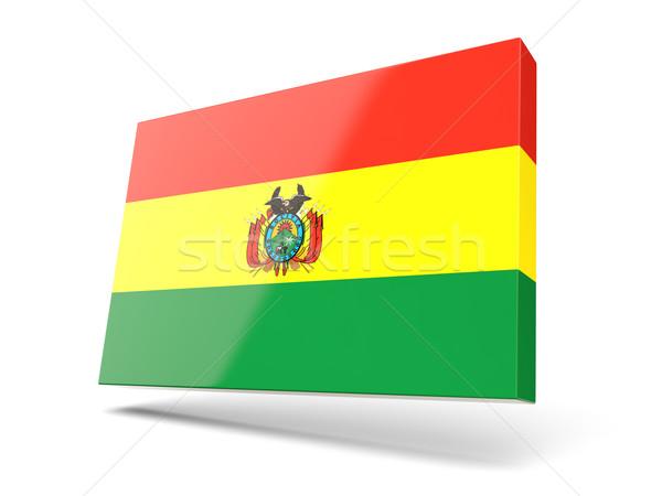 広場 アイコン フラグ ボリビア 孤立した 白 ストックフォト © MikhailMishchenko