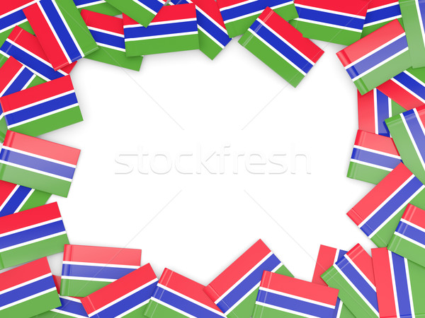 フレーム フラグ ガンビア 孤立した 白 ストックフォト © MikhailMishchenko