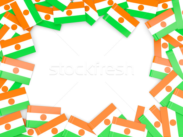 Marco bandera Níger aislado blanco Foto stock © MikhailMishchenko