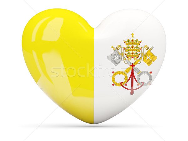 сердце икона флаг Ватикан изолированный Сток-фото © MikhailMishchenko