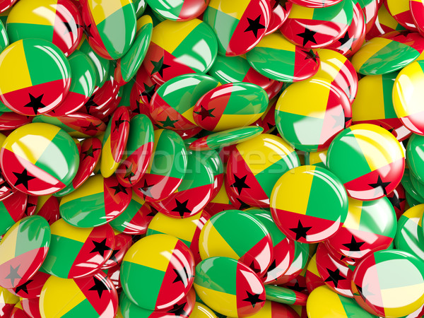 Background with round pins with flag of guinea bissau Stock photo © MikhailMishchenko