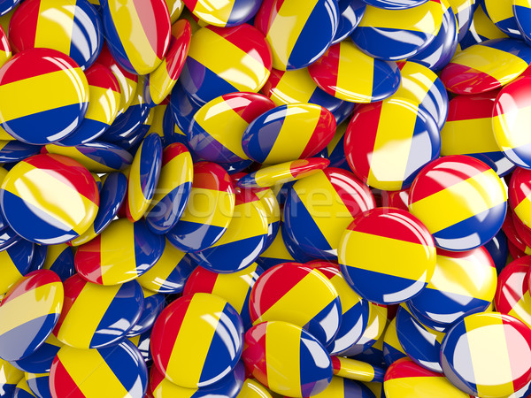 флаг Румыния фон стране Pin круга Сток-фото © MikhailMishchenko