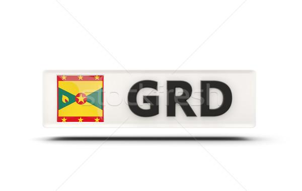Tér ikon zászló Grenada iso kód Stock fotó © MikhailMishchenko