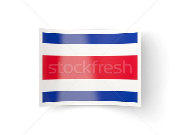 Icono bandera Costa Rica aislado blanco país Foto stock © MikhailMishchenko