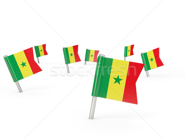 Square pins with flag of senegal Stock photo © MikhailMishchenko