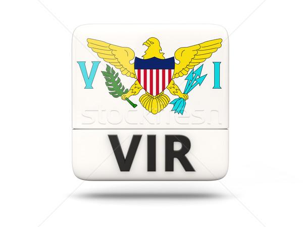 Square icon with flag of virgin islands us Stock photo © MikhailMishchenko
