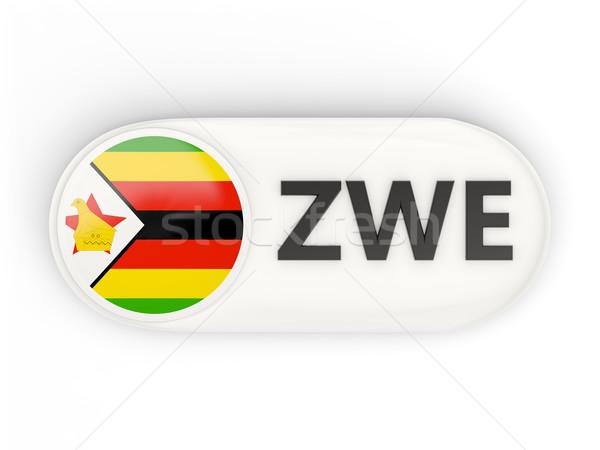 Ikon zászló Zimbabwe iso kód vidék Stock fotó © MikhailMishchenko