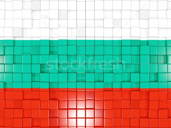 квадратный флаг Болгария 3d иллюстрации мозаика Сток-фото © MikhailMishchenko