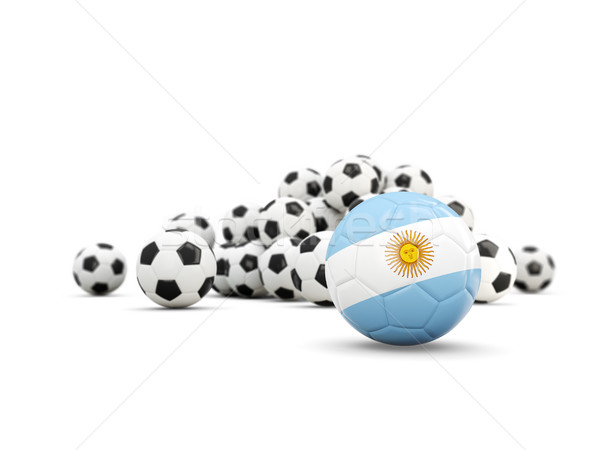 Football with flag of argentina isolated on white Stock photo © MikhailMishchenko