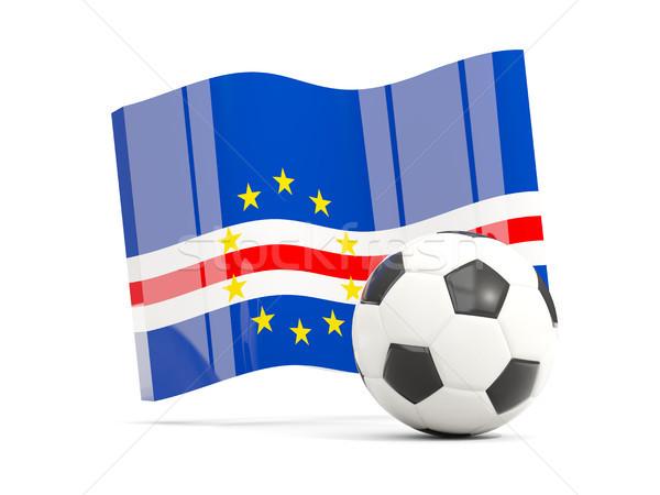Football with waving flag of cape verde isolated on white Stock photo © MikhailMishchenko
