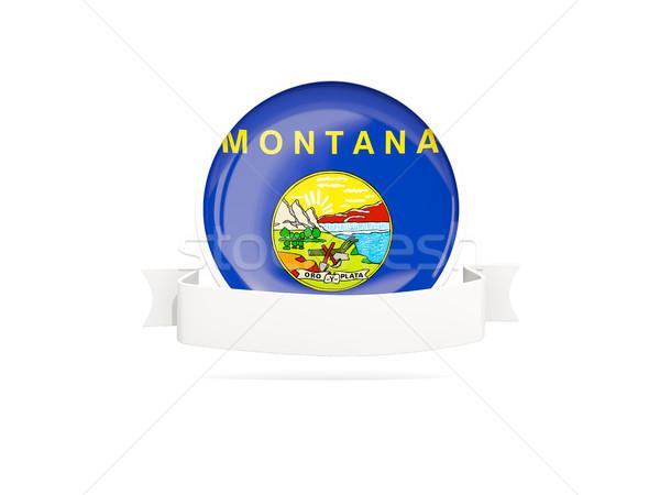 Flag of montana with banner, US state round icon Stock photo © MikhailMishchenko