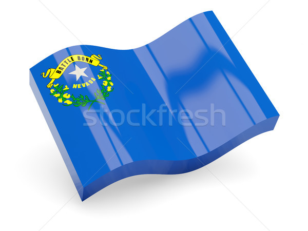 Vlag golf icon geïsoleerd witte 3d illustration Stockfoto © MikhailMishchenko