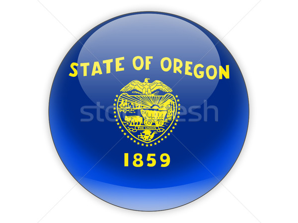 Flag of oregon, US state icon Stock photo © MikhailMishchenko