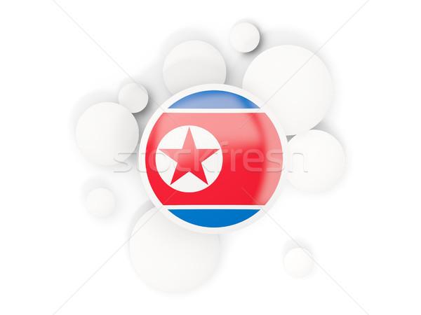 Zászló észak körök minta izolált fehér Stock fotó © MikhailMishchenko