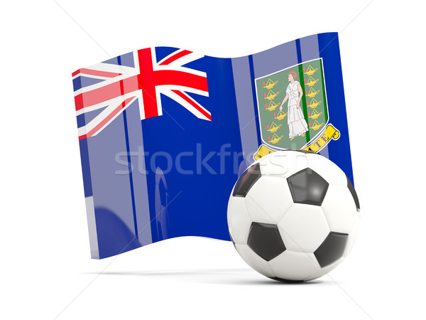 Football with waving flag of virgin islands british isolated on  Stock photo © MikhailMishchenko