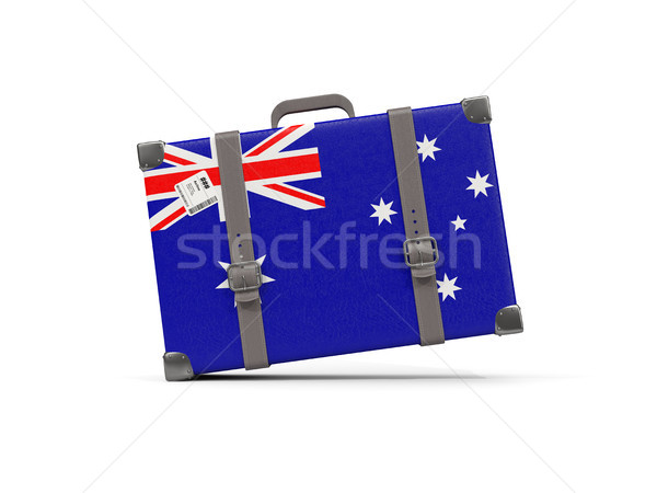 Bagaglio bandiera Australia valigia isolato bianco Foto d'archivio © MikhailMishchenko