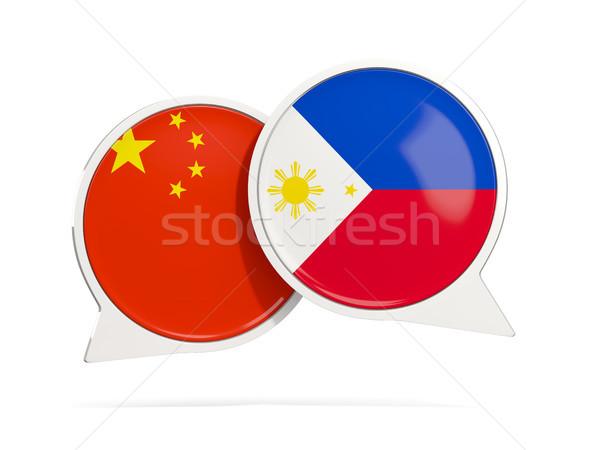 Chat bolle Cina Filippine isolato bianco Foto d'archivio © MikhailMishchenko