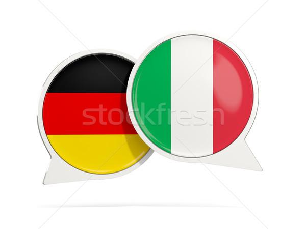 Chat bubbels Duitsland Italië geïsoleerd witte Stockfoto © MikhailMishchenko