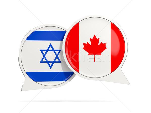Sohbet kabarcıklar İsrail Kanada yalıtılmış beyaz Stok fotoğraf © MikhailMishchenko