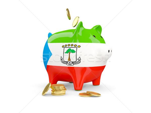 Vet spaarvarken Equatoriaal-Guinea geld geïsoleerd witte Stockfoto © MikhailMishchenko