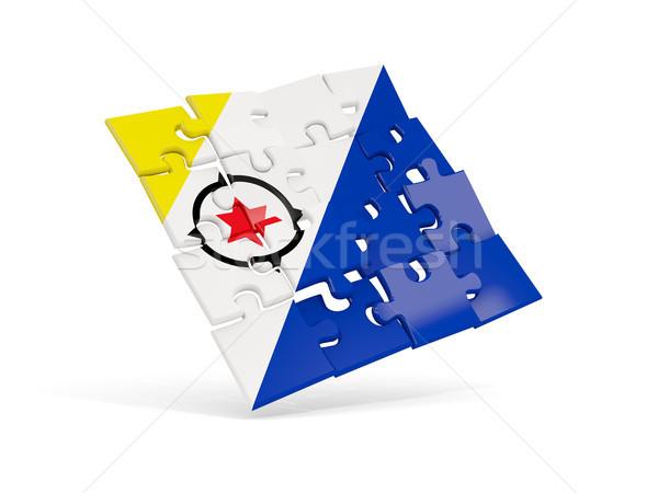 Puzzle flag of bonaire isolated on white Stock photo © MikhailMishchenko