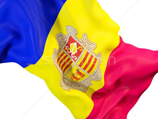 Flagge Andorra 3D-Darstellung Reise Stock foto © MikhailMishchenko