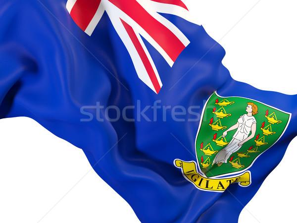 флаг Виргинские о-ва британский 3d иллюстрации Сток-фото © MikhailMishchenko