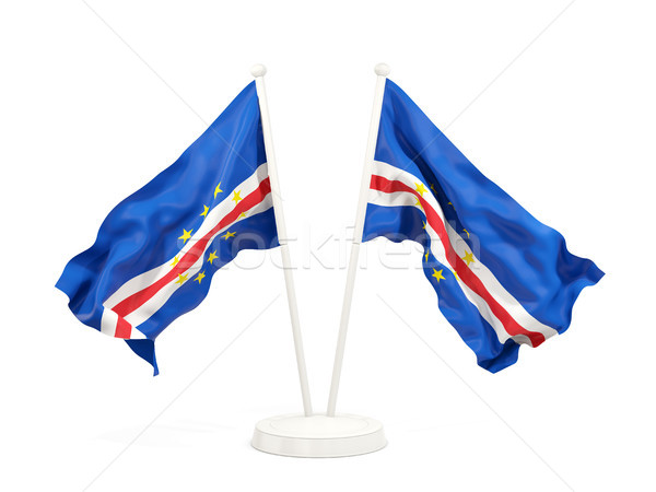 Two waving flags of cape verde Stock photo © MikhailMishchenko