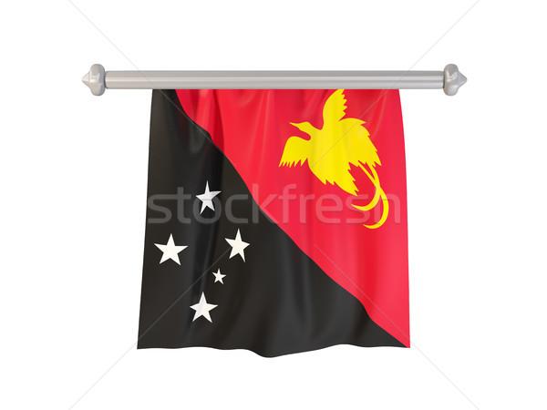 флаг Папуа-Новая Гвинея изолированный белый 3d иллюстрации Label Сток-фото © MikhailMishchenko