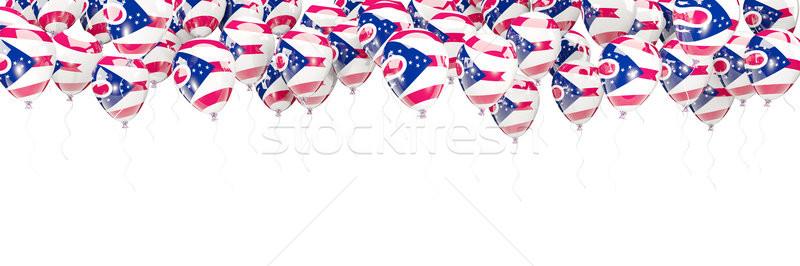 Léggömbök keret zászló Ohio Egyesült Államok helyi Stock fotó © MikhailMishchenko