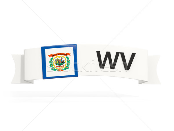 west virginia state flag on banner with postal abbreviation isol Stock photo © MikhailMishchenko