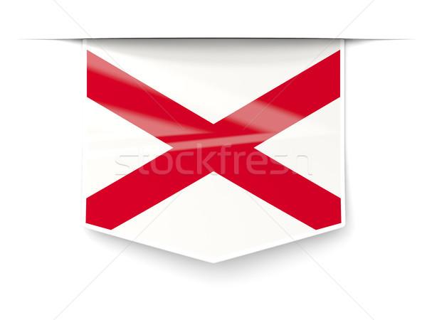 Алабама флаг квадратный Label тень Соединенные Штаты Сток-фото © MikhailMishchenko