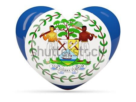 Zászló Belize szalag illusztráció szimbólum Stock fotó © MikhailMishchenko