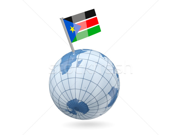 Globe with flag of south sudan Stock photo © MikhailMishchenko