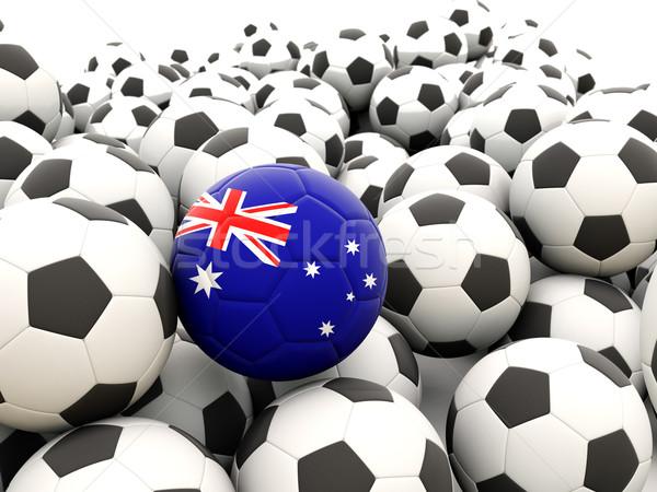 Voetbal vlag Australië regelmatig zomer Stockfoto © MikhailMishchenko