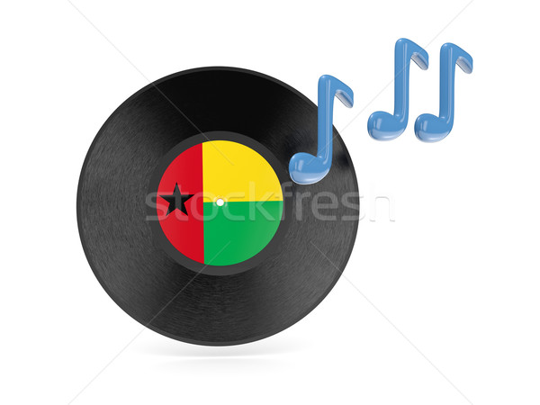 Vinyl disk with flag of guinea bissau Stock photo © MikhailMishchenko