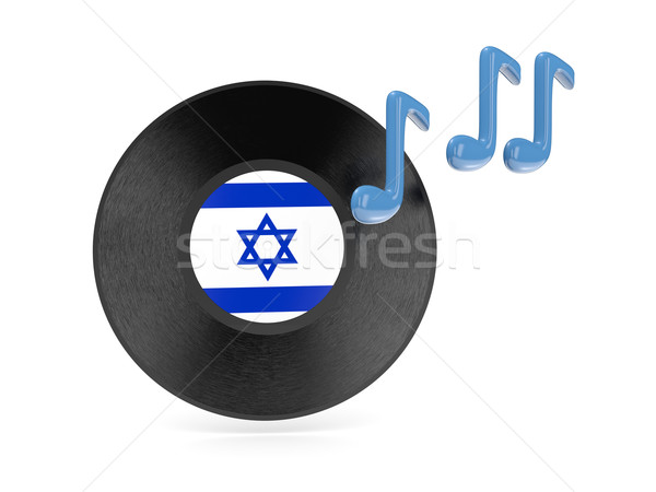 Vinile disco bandiera Israele isolato bianco Foto d'archivio © MikhailMishchenko