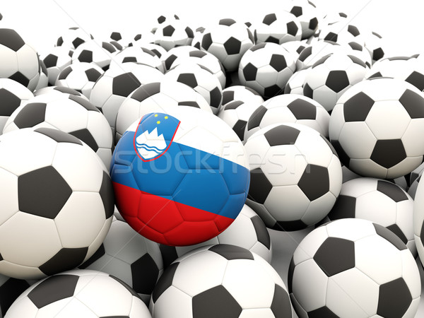 Football with flag of slovenia Stock photo © MikhailMishchenko