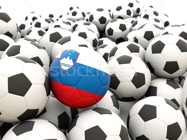 Calcio bandiera Slovenia regolare estate Foto d'archivio © MikhailMishchenko