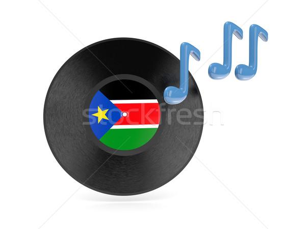 Vinyl schijf vlag zuiden Soedan geïsoleerd Stockfoto © MikhailMishchenko