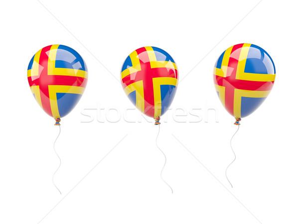 Air balloons with flag of aland islands Stock photo © MikhailMishchenko