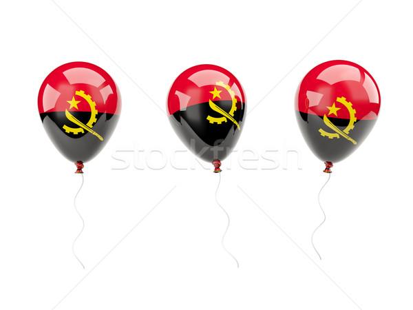 воздуха шаров флаг Ангола изолированный белый Сток-фото © MikhailMishchenko