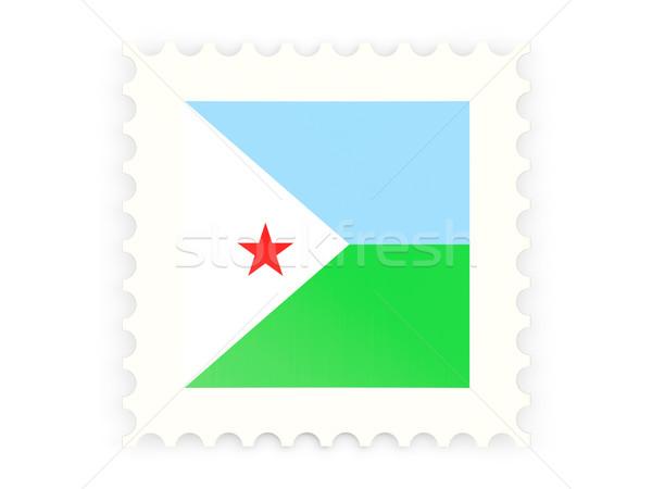 Znaczek pocztowy ikona Dżibuti odizolowany biały mail Zdjęcia stock © MikhailMishchenko