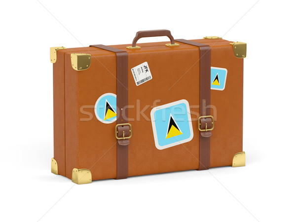 Suitcase with flag of saint lucia Stock photo © MikhailMishchenko