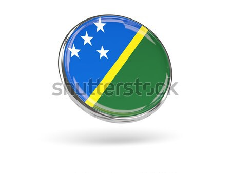 Round icon of flag of solomon islands Stock photo © MikhailMishchenko