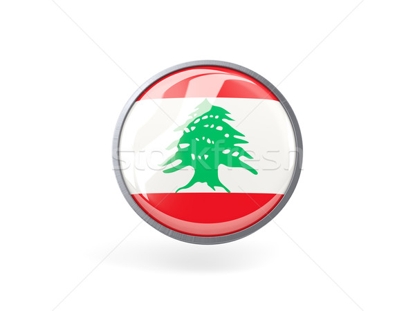 Ikon bayrak Lübnan Metal çerçeve seyahat Stok fotoğraf © MikhailMishchenko