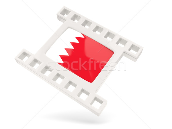 Filme ícone bandeira Bahrein isolado branco Foto stock © MikhailMishchenko