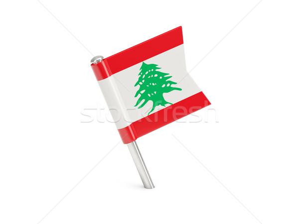Zászló tő Libanon izolált fehér Stock fotó © MikhailMishchenko