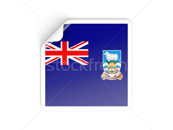 Tér matrica zászló Falkland-szigetek izolált fehér Stock fotó © MikhailMishchenko