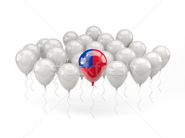 Lucht ballonnen vlag Samoa geïsoleerd witte Stockfoto © MikhailMishchenko